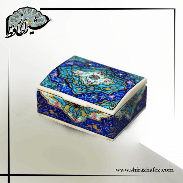 جعبه طرح تذهیب 7سانتی تهیه شده از استخوان شتر . خرید آنلاین صنایع دستی استخوانی در فروشگاه آنلاین صنایع دستی شیراز حافظ . عرضه کننده محصولات استخوانی