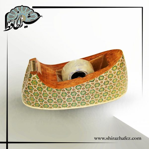 پایه چسب خاتم کاری شده ، ظریف و زیبا . مناسب برای سلیقه های ایرانی و استفاده در اتاق کار . خرید از فروشگاه اینترنتی شیراز حافظ .