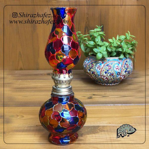 فانوس سایز کوچک ویترای ، خرید آنلاین از فروشگاه آنلاین صنایع دستی شیراز حافظ . عرضه کننده محصولات دکوراتیو و خاص هنرمندان شیرازی