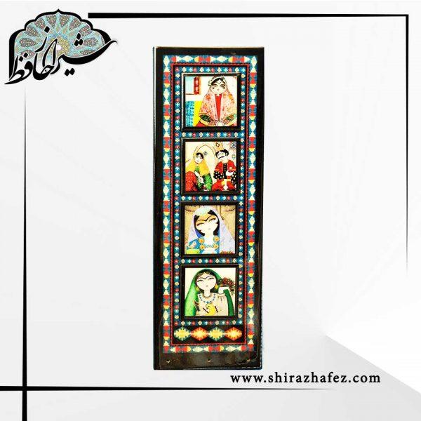 جاکلیدی خاتون چهار خاتون ساخته شده به سبک پنجره های سنتی ایرانی. خرید آنلاین صنایع دستی هنری فروشگاه آنلاین صنایع دستی شیراز حافظ .عرضه کننده دکوراتیو سنتی