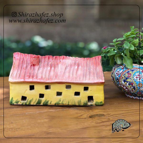 جاشمعی خانه کوچک01 ساخته شده از سفال و سرامیک ،خرید آنلاین صنایع دستی سرامیکی در فروشگاه آنلاین صنایع دستی شیراز حافظ . عرضه کننده محصولات دکوراتیو و کاربردی