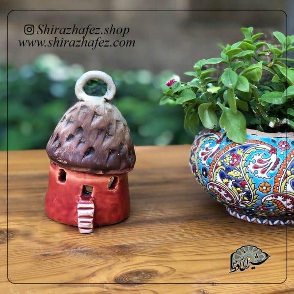 جاشمعی خانه قارچی کد01 ساخته شده از سفال و سرامیک ،خرید آنلاین صنایع دستی سرامیکی در فروشگاه آنلاین صنایع دستی شیراز حافظ . عرضه کننده محصولات دکوراتیو