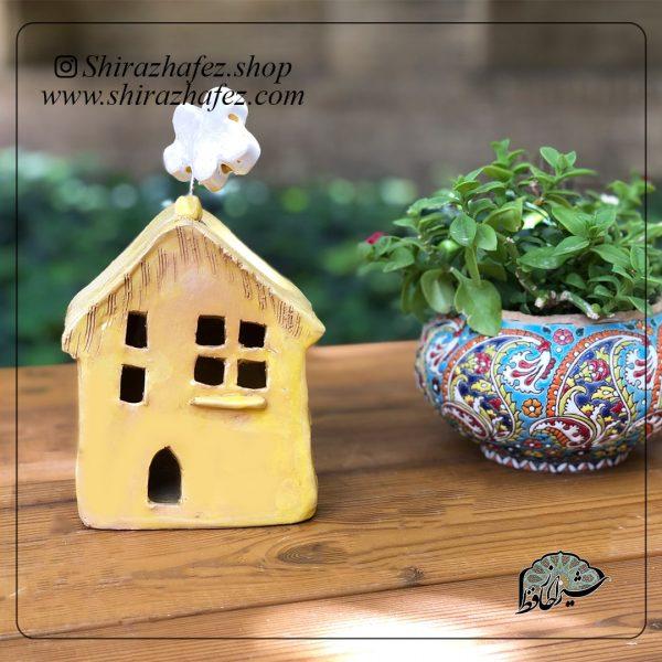 جاشمعی خانه بزرگ02 ساخته شده از سفال و سرامیک ،خرید آنلاین صنایع دستی سرامیکی در فروشگاه آنلاین صنایع دستی شیراز حافظ . عرضه کننده محصولات دکوراتیو و کاربردی
